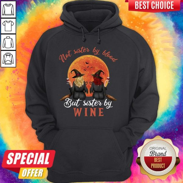 Not Sister By Blood But Sister By Wine Witch Sunset Hoodie