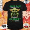 Official Baby Yoda I Don't Care What Day It Is It's Early I'm Grumpy I Want Monster Energy Shirt