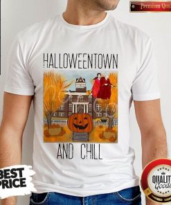 Official Halloweentwon And Chill Pumpkin Shirt