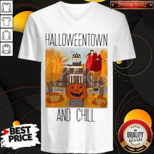 Official Halloweentwon And Chill Pumpkin V-neck
