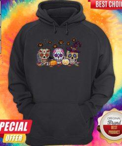 Official Skull Witch Pumpkin Halloween Hoodie