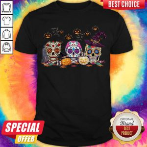 Official Skull Witch Pumpkin Halloween Shirt