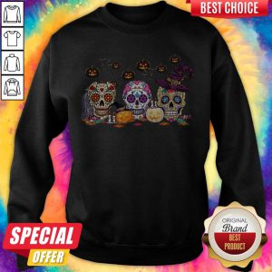 Official Skull Witch Pumpkin Halloween Sweatshirt