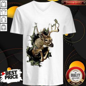 Official The Deer Is Escaped V-neck