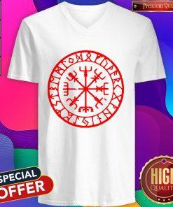 Official Vikings Rune Compass V-neck