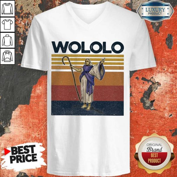 Official Wololo Age Of Empires II Vintage V-neck