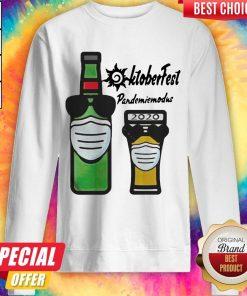 Oktoberfest Pandemie Modus 2020 Beer Mask Sweatshirt