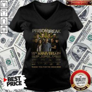 Prison Break 15th Anniversary 2005 2020 Thank You For The Memories V-neck