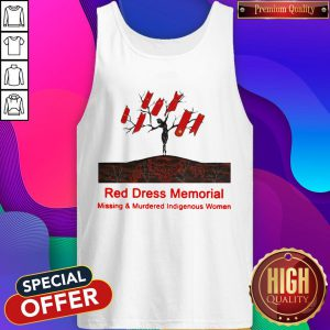 Red Dress Memorial Missing And Murdered Indigenous Women Tank Top
