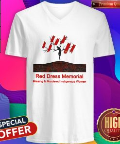 Red Dress Memorial Missing And Murdered Indigenous Women V-neck