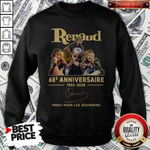 Renaud 68e Anniversaire 1952 2020 Merci Pour Les Souvenirs Sweatshirt