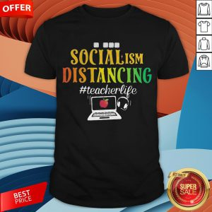 Social Ism Distancing Teacherlife Apple Laptop Shirt