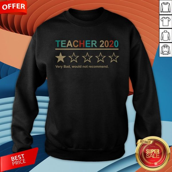 Teacher 2020 Very Bad Would Not Recommend Sweatshirt