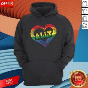Teacher Ally LGBT Gay Lesbian Pride LGBT Rainbow Flag Hoodie