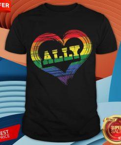 Teacher Ally LGBT Gay Lesbian Pride LGBT Rainbow Flag Shirt