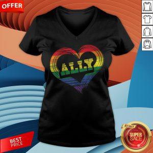 Teacher Ally LGBT Gay Lesbian Pride LGBT Rainbow FlTeacher Ally LGBT Gay Lesbian Pride LGBT Rainbow Flag V-neckag V-neck