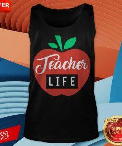 Teacher Pencil Shirt Teacher Life Apple Tank Top