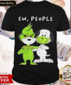 The Grinch And Snoopy Face Mask Ew People Shirt