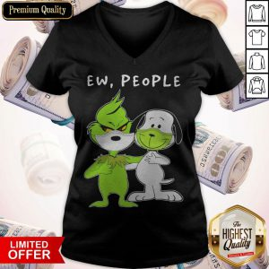 The Grinch And Snoopy Face Mask Ew People V-neck