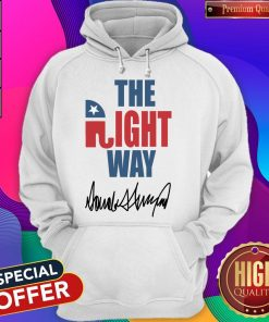 The Right Way Pro Republican Elephant Trump Hoodie