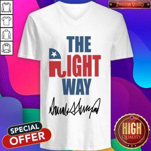 The Right Way Pro Republican Elephant Trump V-neck