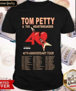 Tom Petty And The Heartbreakers 40th Anniversary Tour Shirt