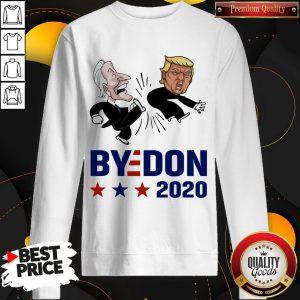 Top Joe Biden Kicks Trump ByeDon 2020 Sweatshirt