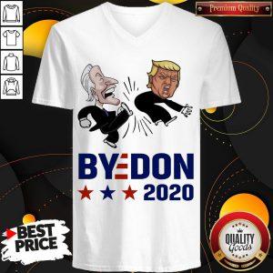Top Joe Biden Kicks Trump ByeDon 2020 V-neck