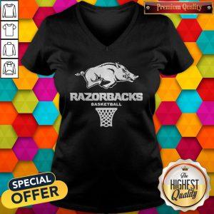 Top Official Razorbacks Basketball V-neck