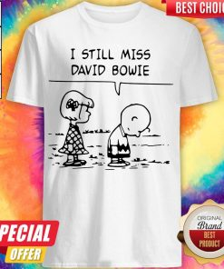 Top Sally Brown And Charlie Brown I Still Miss David Bowie Shirt