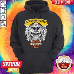 Top Skull Motor Harley Davidson Pittsburgh Steelers Hoodie