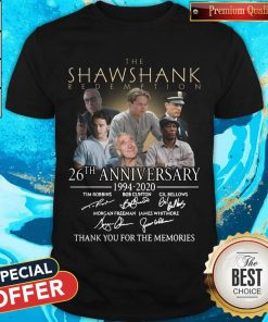 Top The Shawshank Redemption 26th Anniversary 1994 2020 Thank You For The Memories Signature Shirt