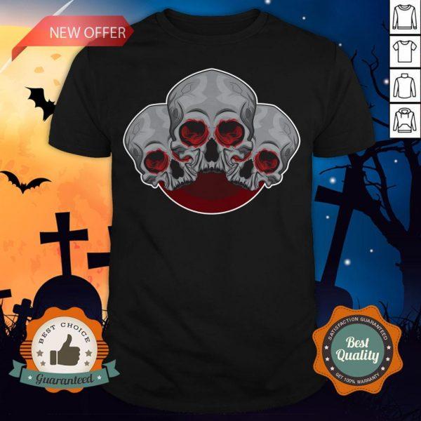 Sugar Skull Red Halloween Day Of Dead Shirt