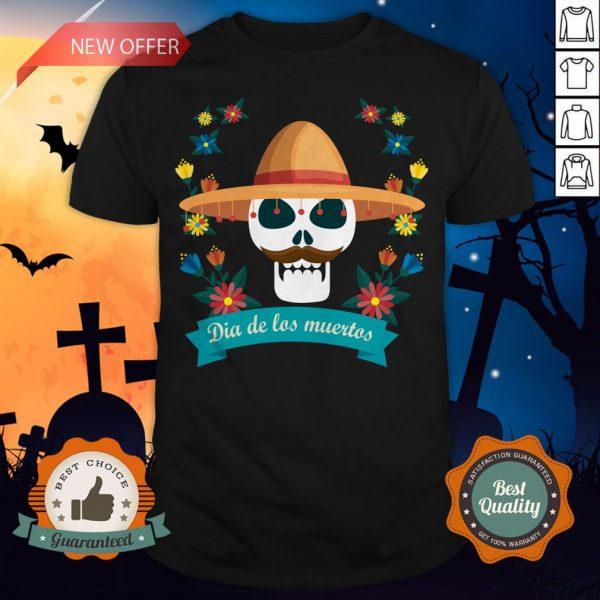Sugar Skull Man Day Of Dead Dia De Muertos Shirt