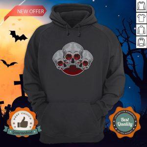 Sugar Skull Red Halloween Day Of Dead Hoodie
