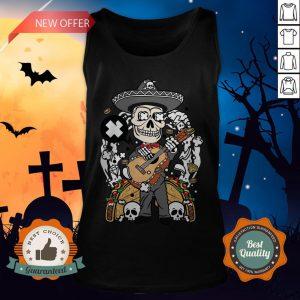 Gentlemen Skeleton Happy Dia De Muertos Day Of Dead Tank Top