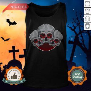 Sugar Skull Red Halloween Day Of Dead Tank Top