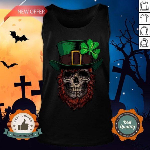 Saint Patrick's Skull Man Day Of Dead Muertos Tank Top