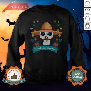 Sugar Skull Man Day Of Dead Dia De Muertos Sweatshirt