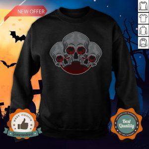 Sugar Skull Red Halloween Day Of Dead Sweatshirt