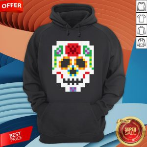 8-Bit Lego Sugar Skull Day Of The Dead T-Hoodie