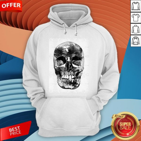 Black And White Skull Day Of Dead Dia De Los Muertos Hoodie