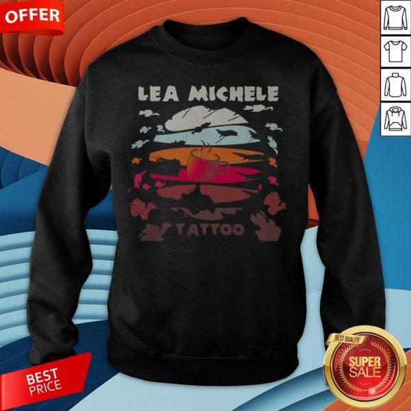 Coffee lea Michele Tattoo Vintage Sweatshirt