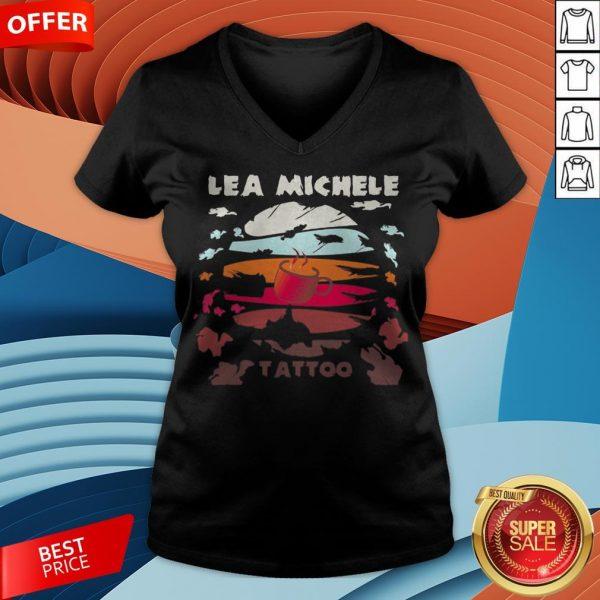 Coffee lea Michele Tattoo Vintage V-neck