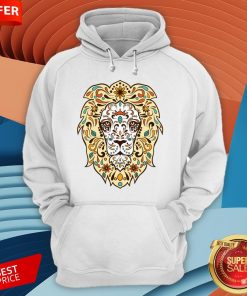Colorful Lion Head Sugar Skull Day Of The Dead Dia De Los Muertos Hoodie