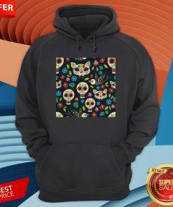 Cute Sugar Skulls Day Of The Dead Dia De Muertos T-Hoodie