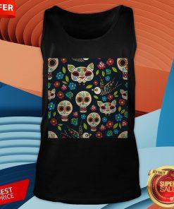 Cute Sugar Skulls Day Of The Dead Dia De Muertos T-Tank Top