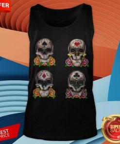 Day Of The Dead Dia De Los Muertos Sugar Skulls Aces Tank Top