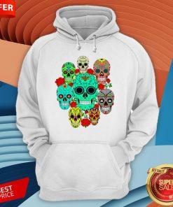 Day Of The Dead Dia De Los Muertos Sugar Skulls Galore Hoodie