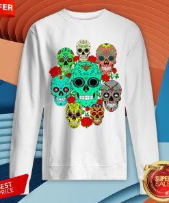 Day Of The Dead Dia De Los Muertos Sugar Skulls Galore Sweatshirt